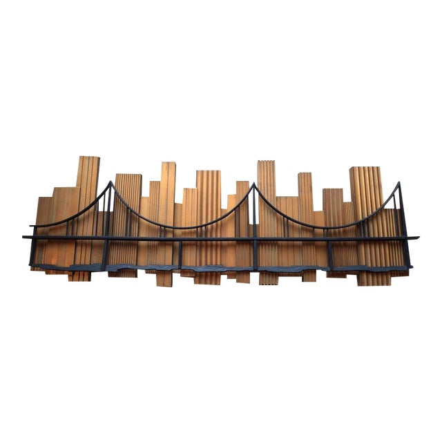 Signed 1969 Skyscraper Bridge Sculpture For Sale - Image 11 of 11