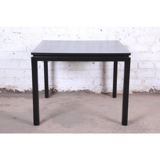 Contemporary 1950s Edward Wormley for Dunbar Ebonized Mahogany Game Table or Occasional Side Table, Newly Refinished For Sale - Image 3 of 9