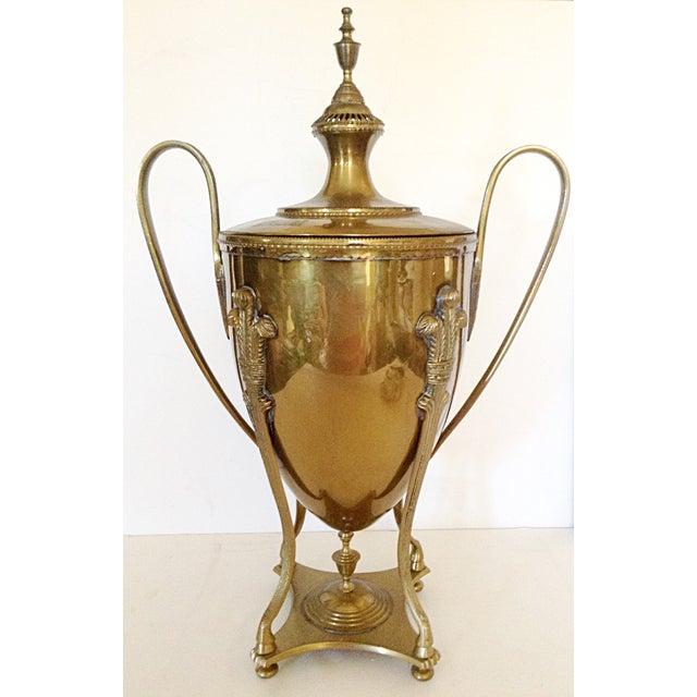 Traditional Large Brass Serving Trophy Urn For Sale - Image 3 of 6