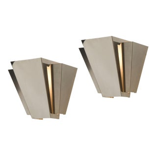 Pair of Nos Lightolier Luxor Sconces Circa 1970s
