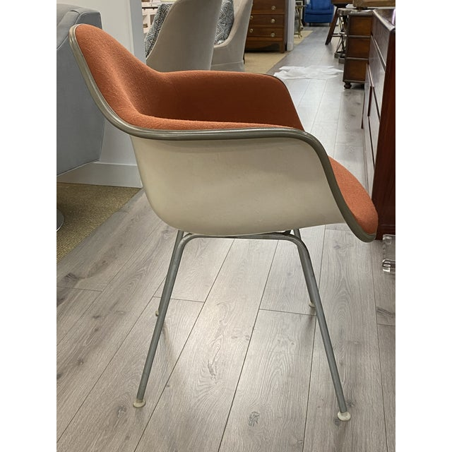 Herman Miller Vintage Herman Miller Chairs Upholstered Fiberglass Chairs Signed For Sale - Image 4 of 10