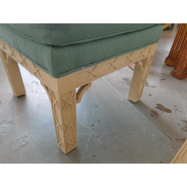 Chippendale Style Fretwork Benches - A Pair - Image 5 of 8