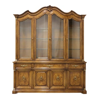 White of Mebane Monumental French Provincial China Cabinet For Sale