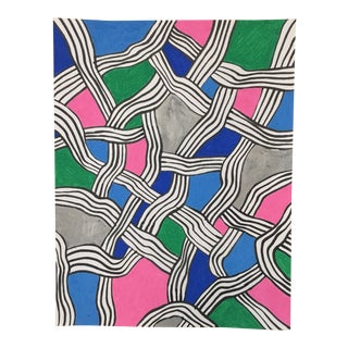 2010s Abstract Drawing, Node V For Sale