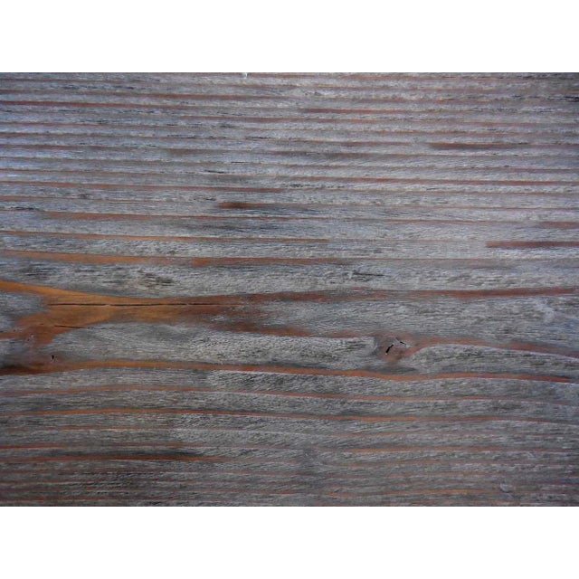 Custom Reclaimed Wood Coffee Table For Sale In Los Angeles - Image 6 of 7