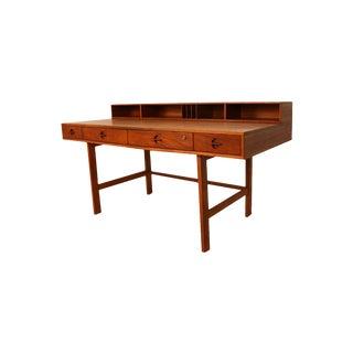 Peter Lovig Nielsen Danish Modern Teak Flip Top Desk For Sale