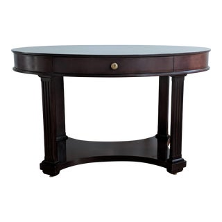 Oval Mahogany Side Table - by Baker Furniture For Sale