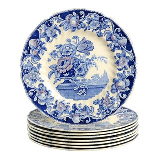 Royal Doulton Pomeroy Blue Dinner Plate - Set of 8 For Sale