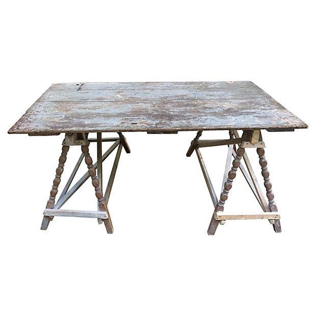 French Farm Door Table - Image 1 of 3