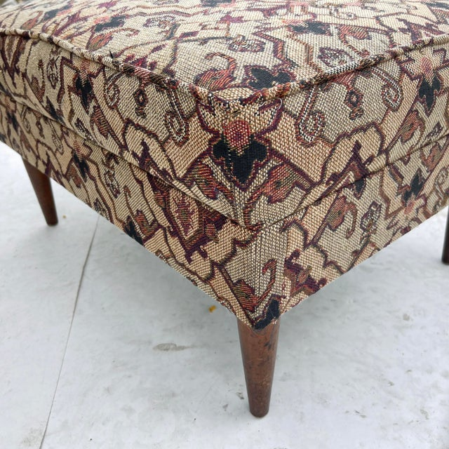 Mid-Century Modern Lounge Chair With Ottoman For Sale - Image 12 of 13