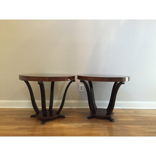 Art Deco Styke Rosewood Side Tables - A Pair - Image 2 of 4