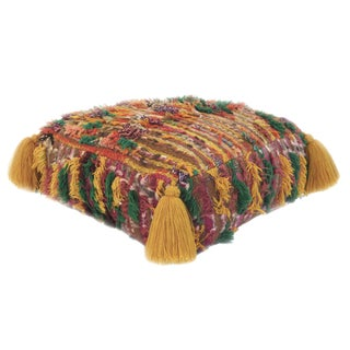 1970s Moroccan Wool Pouf For Sale