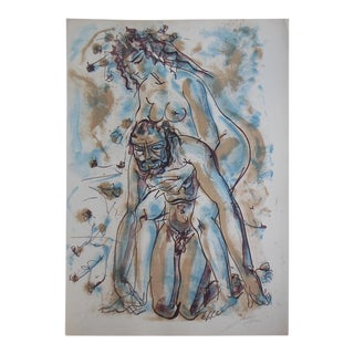 Large Vintage Mid 20th C. Ltd. Ed. Lithograph by World Famous Hans Erni-Pencil Signd/Numbered For Sale