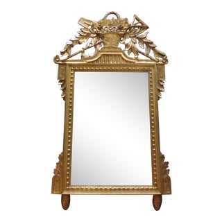 Neoclassical Italian Wall Mirror Gilt