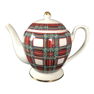 Stuart Dress Tartan Plaid Teapot