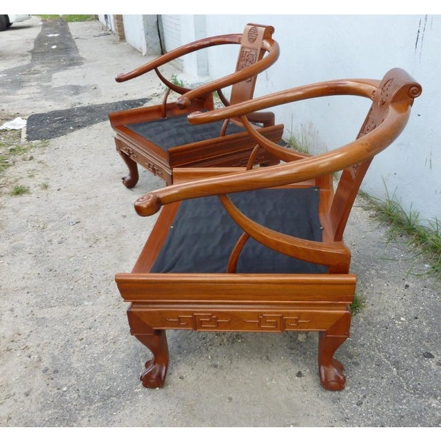 Wood 1960s Ming Arm Chairs - a Pair For Sale - Image 7 of 10