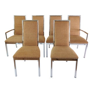 Baughman Weiman Dia Style Chrome Frame Dining Chairs - Set of 6 For Sale