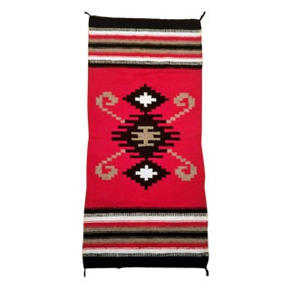 Early 20th Century Antique Ganado Navajo Double Saddle Blanket/Rug - 2′4″ × 5′