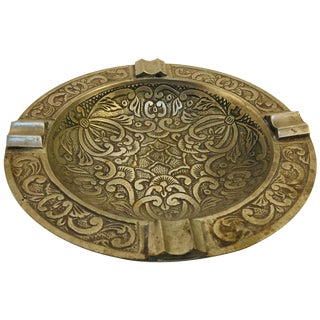 1970s Middle Eastern Syrian Handcrafted Silver Plated Ashtray For Sale