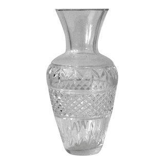 English Traditional Waterford Crystal Ballina Flower Vase For Sale