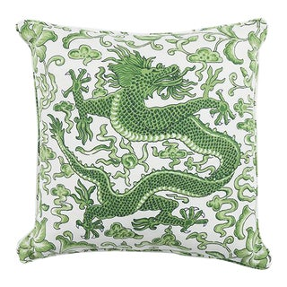 Scalamandre Chien Dragon Linen Pillow For Sale