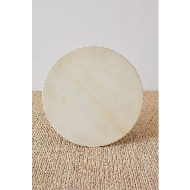 Brown Art Deco Style Mahogany and Goatskin Vellum Drinks Table For Sale - Image 8 of 13
