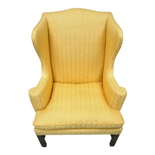 1960s Vintage Kittinger Cw-12 Colonial Williamsburg Gold Wing Wingback For Sale