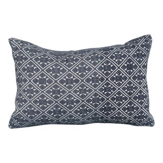 Chinese Hmong Grey Wedding Quilt Pillow For Sale