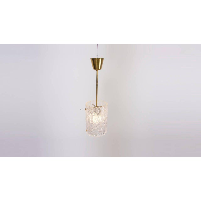 Brass Glass Pendant Light by Carl Fagerlund for Orrefors For Sale - Image 7 of 9