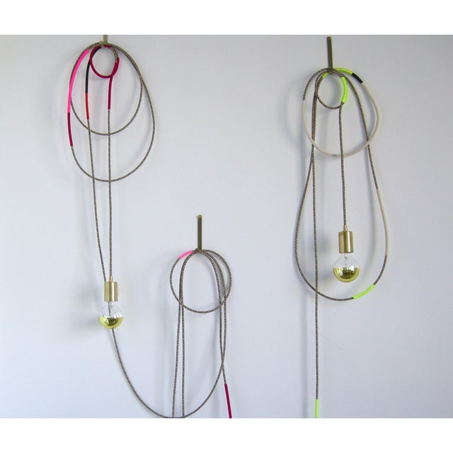 Lasso Light x Chad Wentzel MADE YEAR: 2018 MADE IN: Detroit, MI Solid machined brass light socket on a fabric covered...