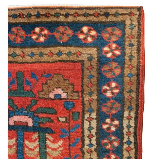 """Early 20th Century Early 20th Century Heriz Runner - 24"""" x 112"""" For Sale - Image 5 of 5"""