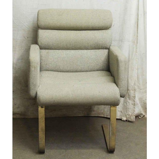Modern Cream Chair With Two Metal Legs - Image 3 of 5