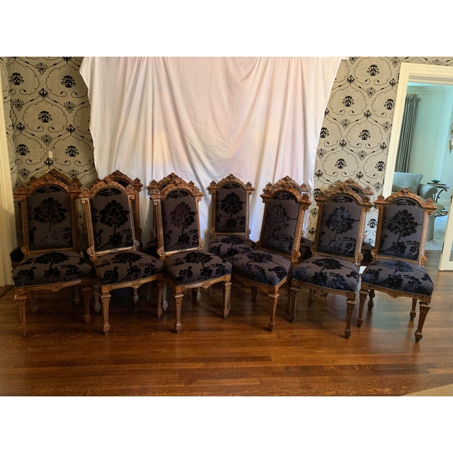 Renaissance Revival Dining Chairs Set of 12 For Sale - Image 10 of 13