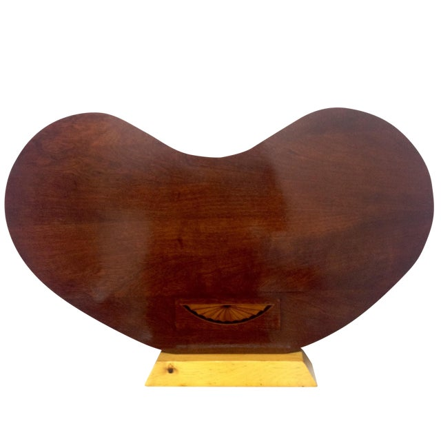 Art Deco Rosewood Kidney Shaped Lap Desk & Stand - Image 1 of 4