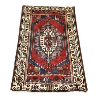 Vintage Red Turkish Rug For Sale