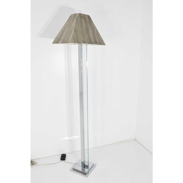 Chrome and Glass Floor Lamp For Sale - Image 9 of 9