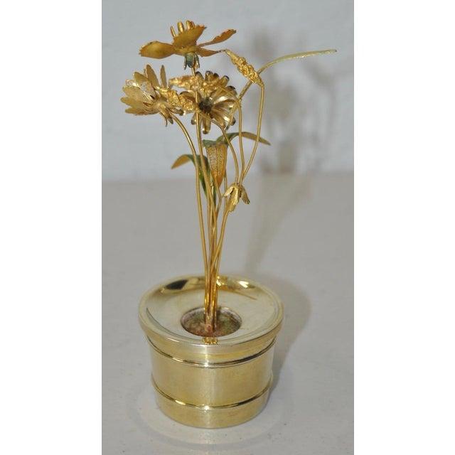 Gorham Sterling & Enamel Flower Arrangement Figure - Image 5 of 7