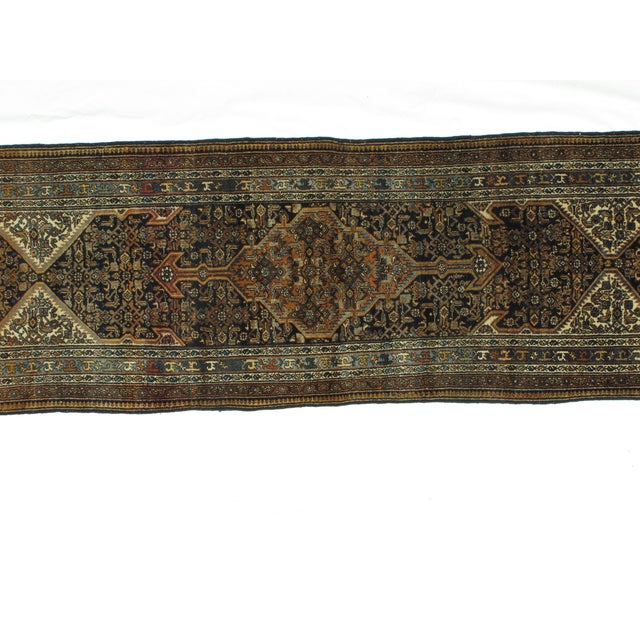 "Textile Leon Banilivi Antique Bibikabad Rug - 3'2"" X 17'1"" For Sale - Image 7 of 8"