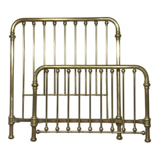 Antique Double Brass Bed Frame