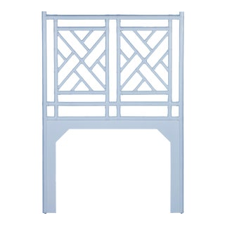Chippendale Headboard Twin - Blue For Sale