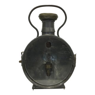 Antique French Railroad Lantern For Sale