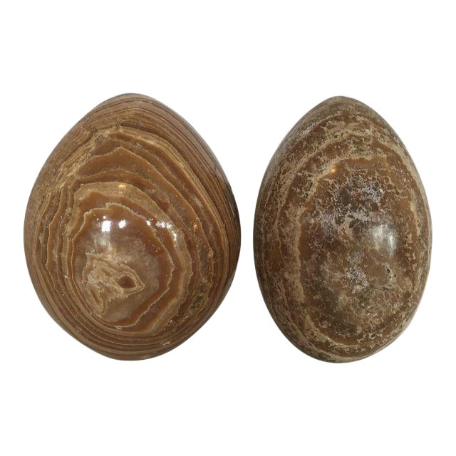 Decorative Marble Eggs - A Pair For Sale