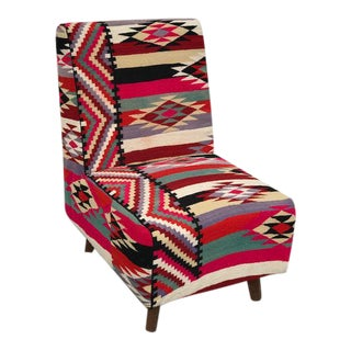 Turkish Handmade Kilim Chair For Sale