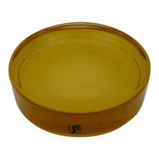 Seguso Golden Amber Disc Bowl