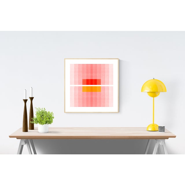 """Color Space Series 27: Pink, Red, Yellow"" Abstract Print - Image 2 of 3"