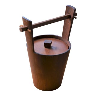 1960s Scandinavian Modern Anri Form Teak Ice Bucket For Sale