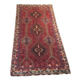 "Persian Shiraz Handmade Rug - 4'6"" X 8'6"" For Sale"
