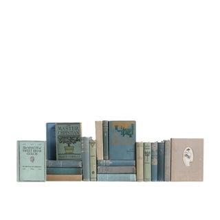 Vintage Literature in Blue, Green & Grey - Set of Twenty Decorative Books