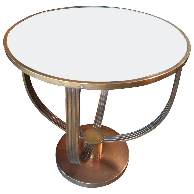 French Art Deco Coffee Table, Attributed To Jean Michel Frank 1930s For Sale