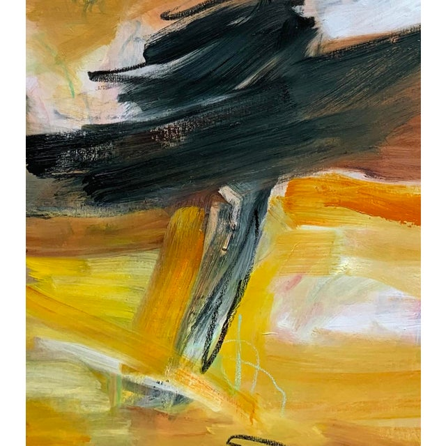"""Abstract """"Eagle's Nest"""" by Trixie Pitts XL Painterly Abstract Expressionist Oil Painting For Sale - Image 3 of 13"""